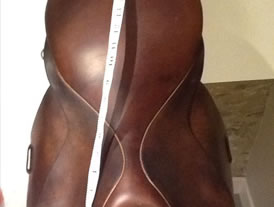 Crosby brown leather saddle