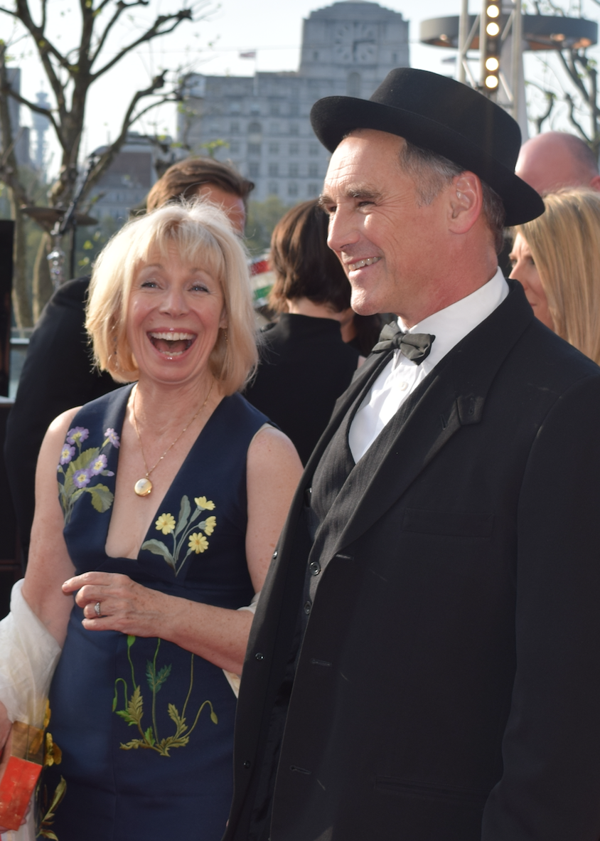 Oscar winner, BAFTA Film and BAFTA TV winner Mark Rylance had plenty to smile about.