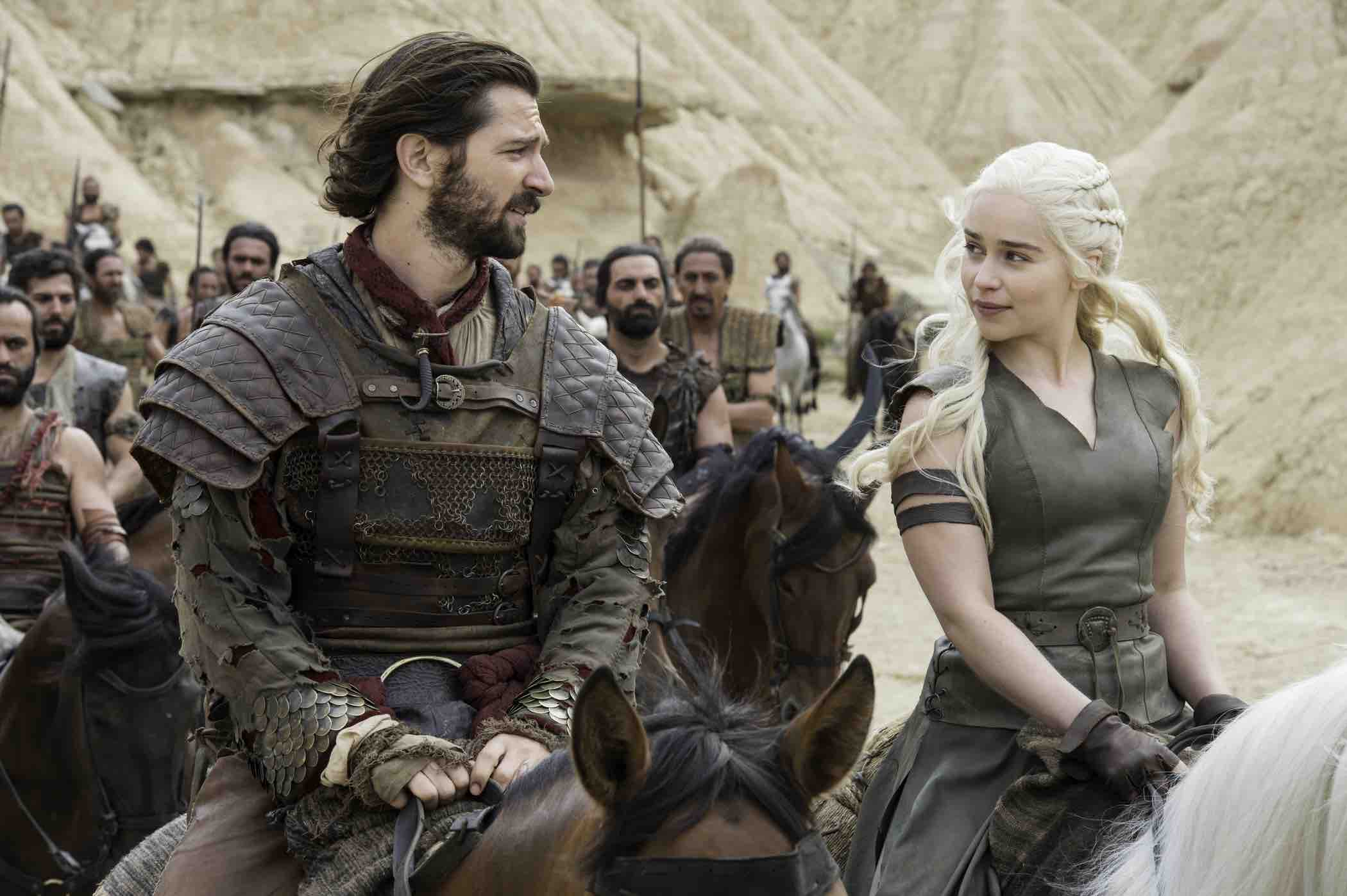 Daenerys and Daario look pretty pleased together as they chart their course to Meereen.