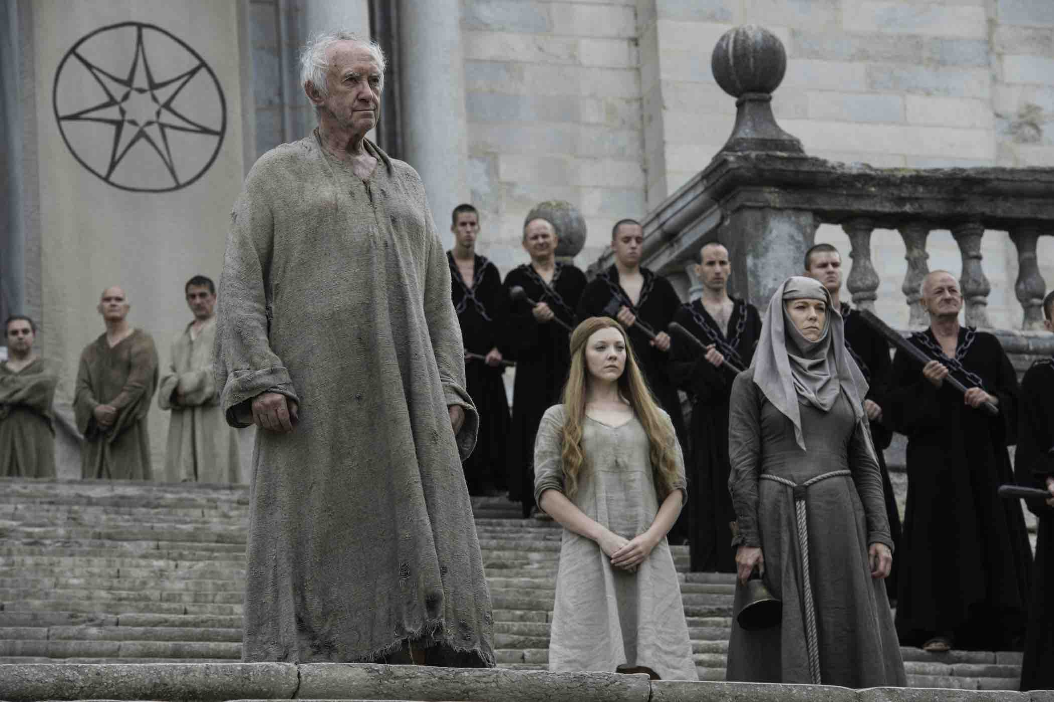 It seems Margaery's trial is imminent, as the High Sparrow brings her out of her cell and in front of the Sept of Baelor.