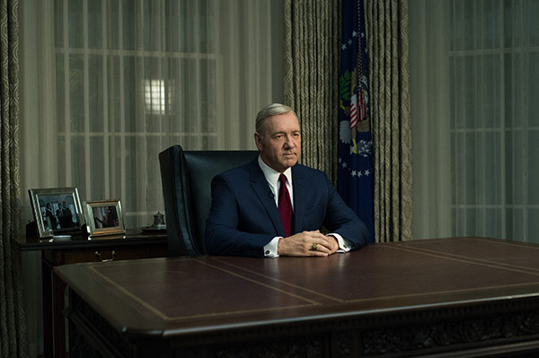 Kevin Spacey stars as President Frank Underwood in the US adaptation of Dobbs' original novels