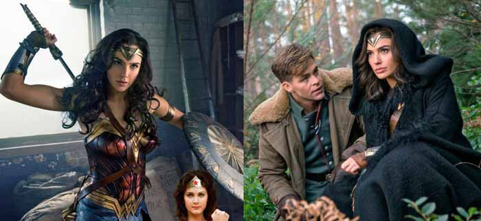 Wonder Woman Gal Gadot Chris Pine