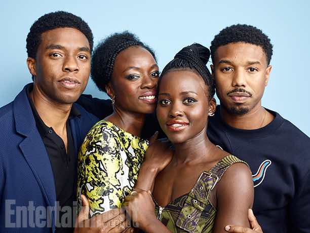 Black Panther L to R: Chadwick Boseman, Danai GURIRA,Lupita Nyong'o and Michael B. Jordan Comic-Con 2016 Day 3 - July 23, 2016 – San Diego, CA Photograph by Matthias Clamer