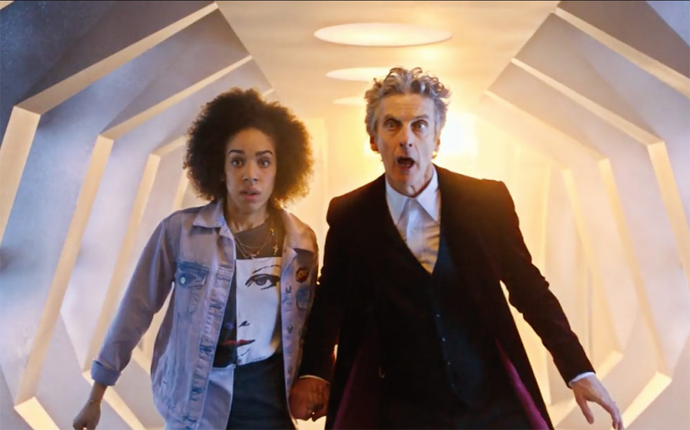 Peter Capaldi and Pearl Mackie as the Doctor and Bill