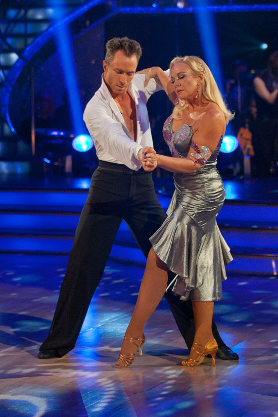 PUBLICATION OF THIS IMAGE IS STRICTLY EMBARGOED UNTIL 1940 HOURS SATURDAY OCTOBER 16th 2010 Picture shows: Pamela Stephenson and James Jordan during LIVE SHOW TX: BBC One