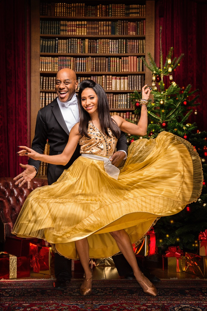 WARNING: Embargoed for publication until 00:00:01 on 03/12/2016 - Programme Name: Strictly Come Dancing 2016 - TX: n/a - Episode: Christmas Special 2016 (No. n/a) - Picture Shows: ++IMAGE UNDER EMBARGO UNTIL 00:01 3RD DECEMBER 2016++ Ainsley Harriott, Karen Clifton - (C) BBC - Photographer: Guy Levy