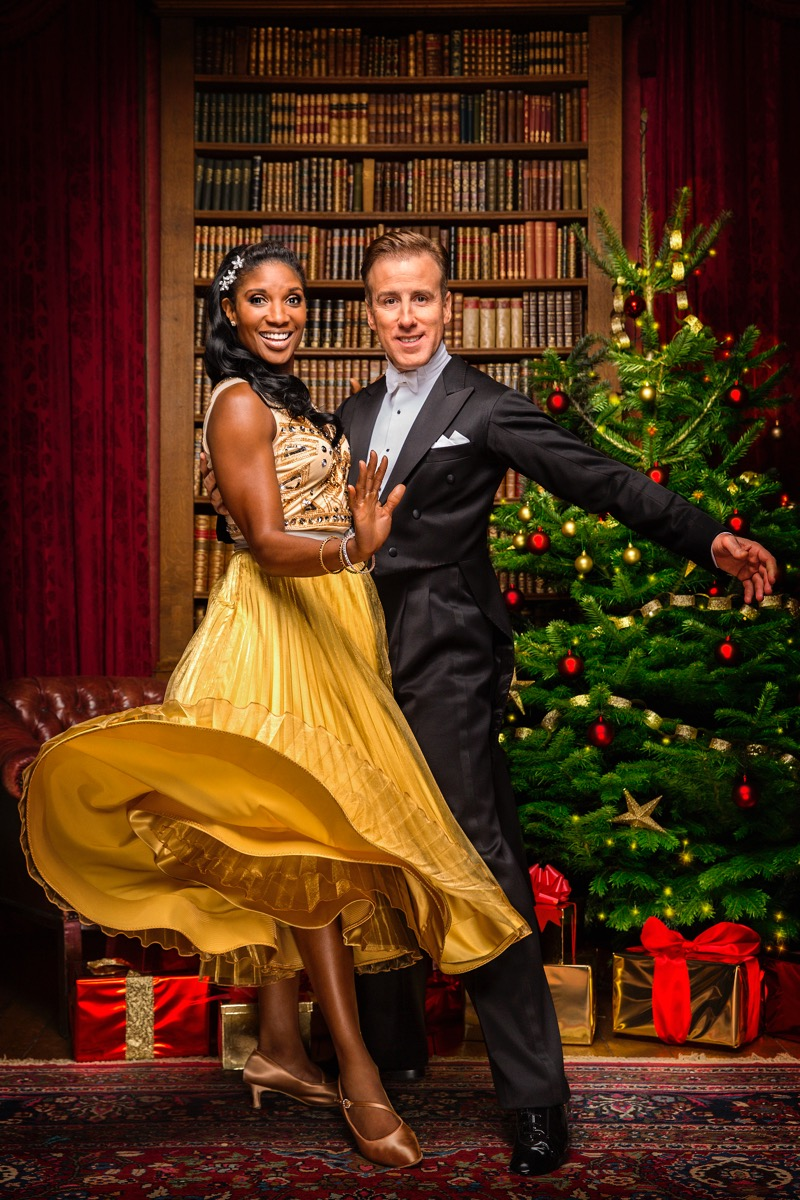 WARNING: Embargoed for publication until 00:00:01 on 03/12/2016 - Programme Name: Strictly Come Dancing 2016 - TX: n/a - Episode: Christmas Special 2016 (No. n/a) - Picture Shows: ++IMAGE UNDER EMBARGO UNTIL 00:01 3RD DECEMBER 2016++ Denise Lewis, Anton Du Beke - (C) BBC - Photographer: Guy Levy