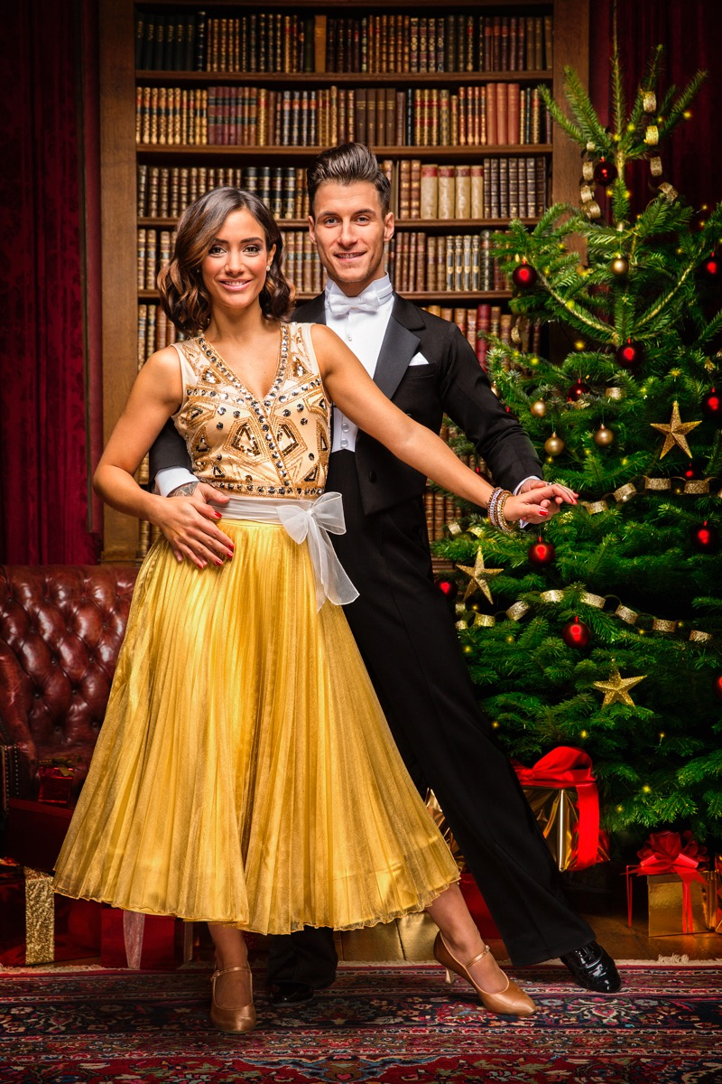 WARNING: Embargoed for publication until 00:00:01 on 03/12/2016 - Programme Name: Strictly Come Dancing 2016 - TX: n/a - Episode: Christmas Special 2016 (No. n/a) - Picture Shows: ++IMAGE UNDER EMBARGO UNTIL 00:01 3RD DECEMBER 2016++ Frankie Bridge, Gorka Marquez - (C) BBC - Photographer: Guy Levy