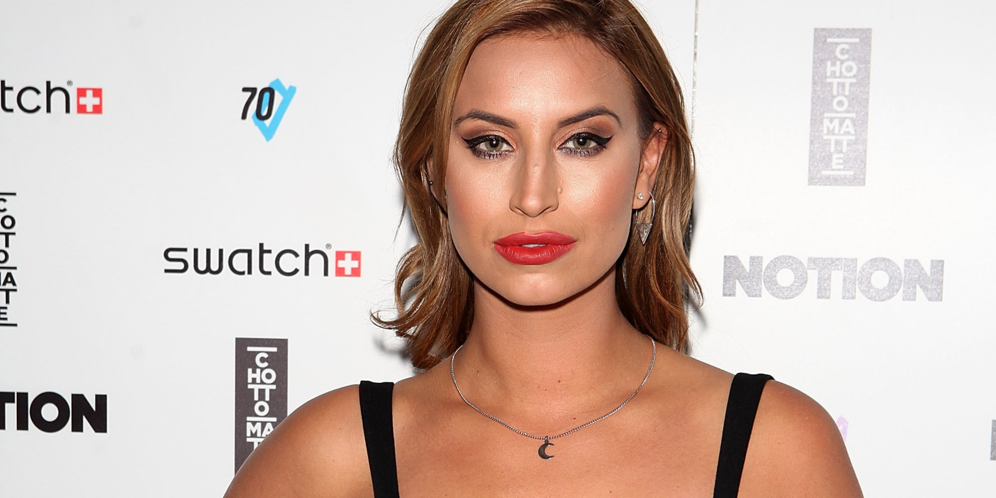 LONDON, ENGLAND - SEPTEMBER 09: Ferne McCann attends the Notion Magazine X Swatch Issue 70 launch party at Chotto Matte on September 9, 2015 in London, England. (Photo by David M. Benett/Dave Benett/Getty Images)