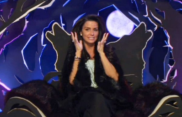 Editorial Use Only Mandatory Credit: Photo by REX/Shutterstock (4379111bc) Katie Price reveals her nomination for eviction in the Diary Room 'Celebrity Big Brother' TV show, Elstree Studios, Hertfordshire, Britain - 20 Jan 2015